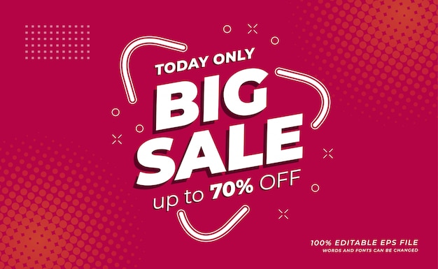 Modern big sale banner with minimalis design