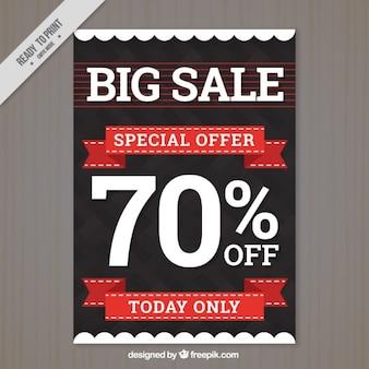 Modern big sale flyer template Free Vector