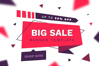 Modern big sale ribbon banner