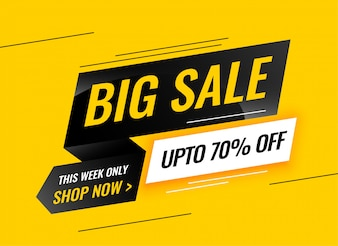 Modern big sale yellow banner design