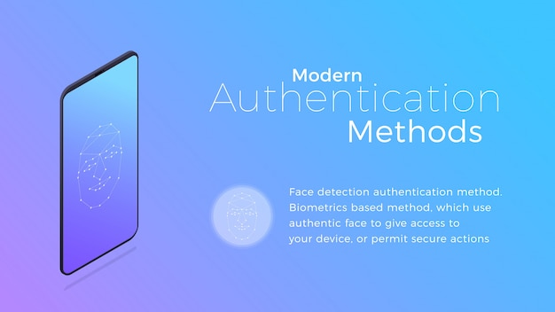 Modern biometric facial recognition authentication method