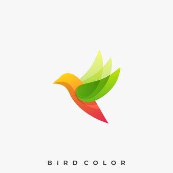 Modern bird colorful illustration vector template