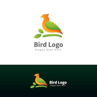 Modern bird logo template