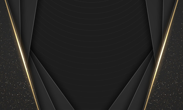 Fondo geometrico di disegno astratto nero moderno