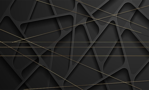 Modern black abstract design geometric background