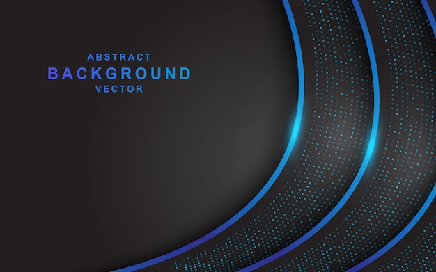 Modern black background with blue line decoration