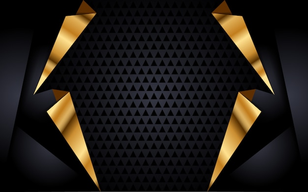 Modern black background with golden accent