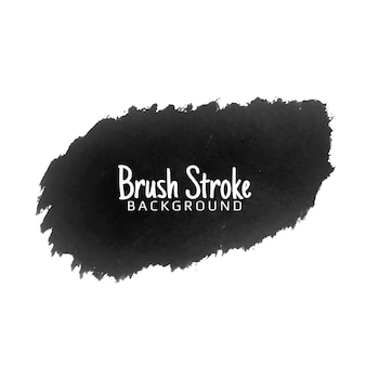 Modern black brush stroke watercolor background