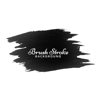Modern black brush stroke watercolor design design