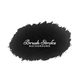 Modern black brush stroke watercolor design design