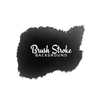 モダンな黒のブラシストローク水彩デザインデザイン