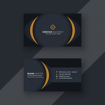Modern black business card design