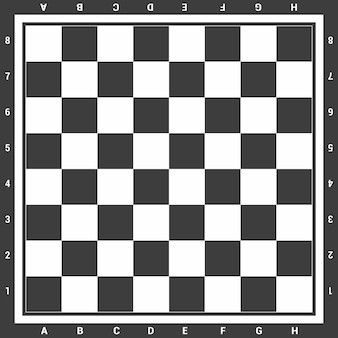 Modern black chess board with letters and numbers background design vector illustration.