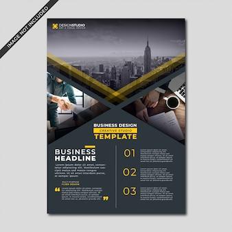 Modern black color business flyer template