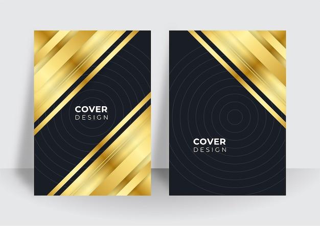 Современный черный дизайн обложки. роскошный творческий золотой динамический узор линии. формальный премиум векторный фон для бизнес-брошюры, плаката, ноутбука, шаблона меню