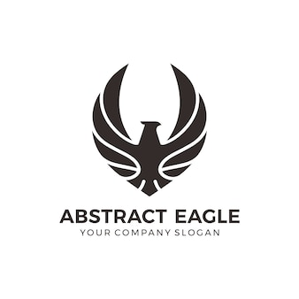Modern black eagle logo
