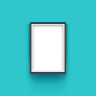 Modern black frame on blue background