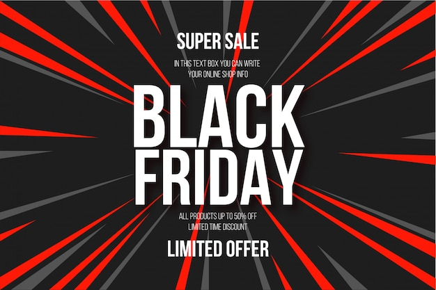 Modern black friday abstract background