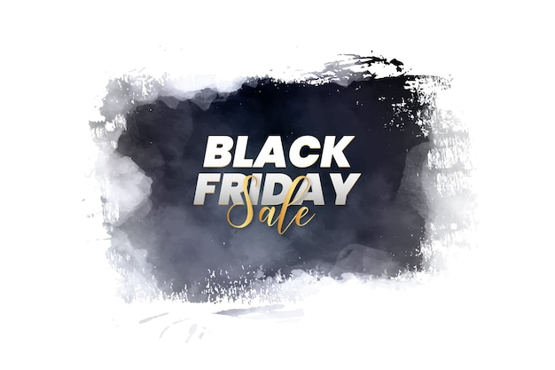 Modern black friday banner with abstract brush splash