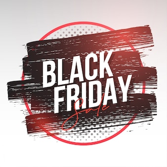 Modern black friday banner with splash