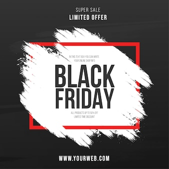 Modern black friday brush stroke background