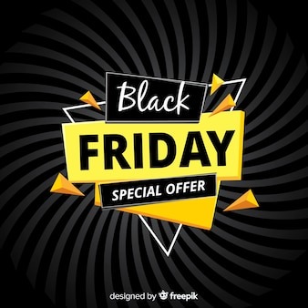 Modern black friday composition with flat design