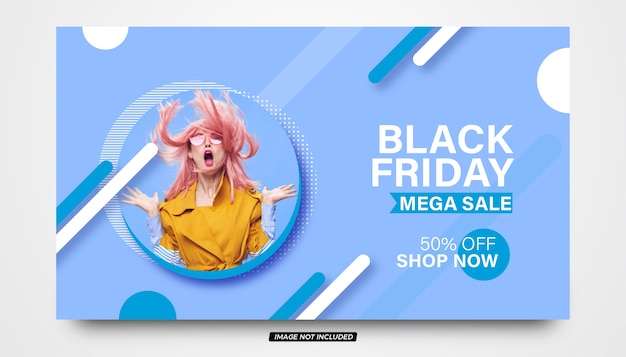 Modern black friday fashion sale banner