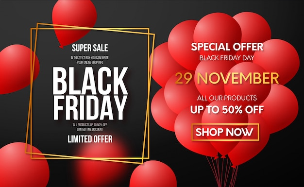 Modern black friday offer banner