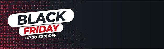 Banner di vendita venerdì nero moderno con punti astratti