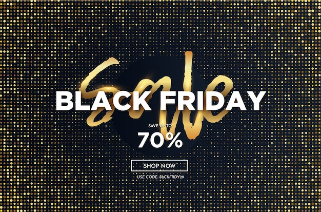 Modern black friday sale banner with abstract dots