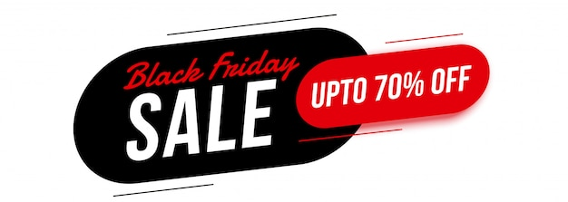 Modern black friday sale banner with offer details