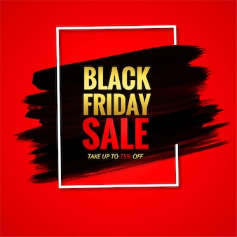 Modern black friday sale card with red