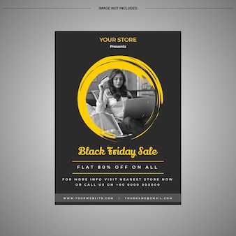 Modern black friday sale flyer design with discount offer
