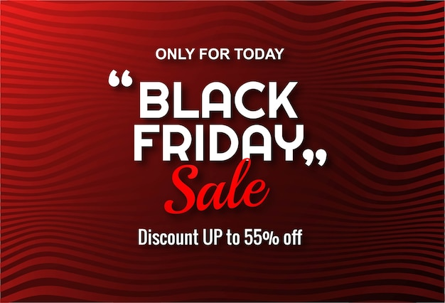 Modern black friday sale lable banner
