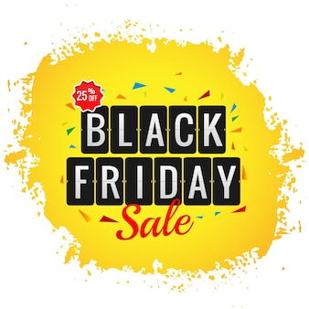 Modern black friday sale poster with splash