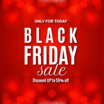 Modern black friday sale red banner