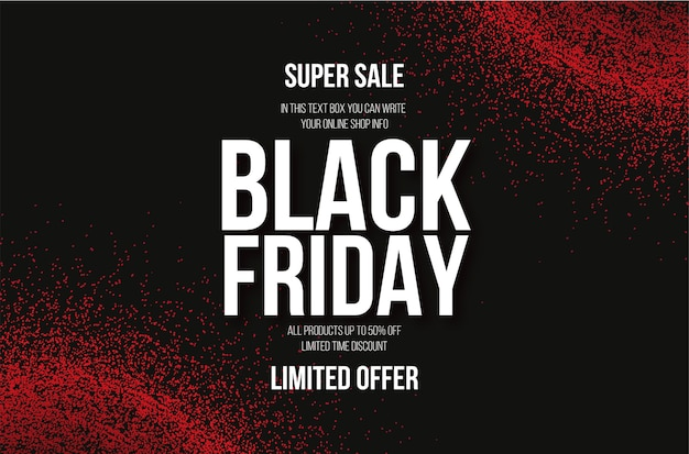 Modern black friday sale with abstract blood background effect