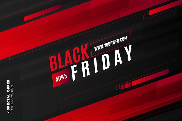 Modern black friday sale with abstract shapes