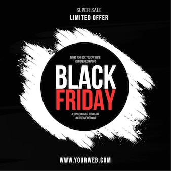 Modern black friday sale with brush stroke