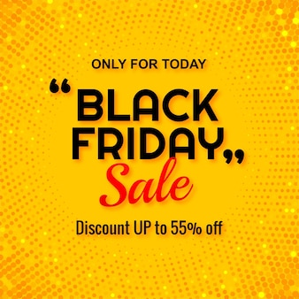 Modern black friday sale with glitters