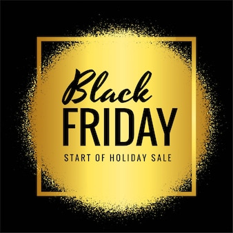 Modern black friday sale with golden grunge card