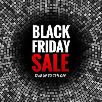 Modern black friday sale with mosaic