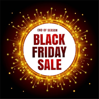 Modern black friday sale with poster