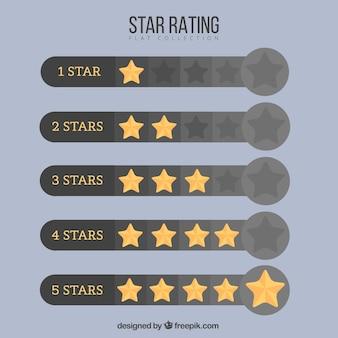 Современный дизайн звездной звезды