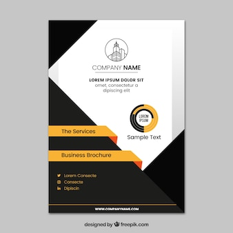 Modern black and white business brochure