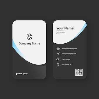 Modern black and white business card