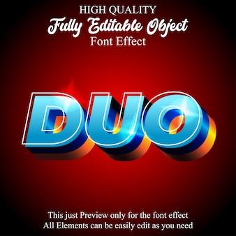 Modern blink bold 3d editable font effect