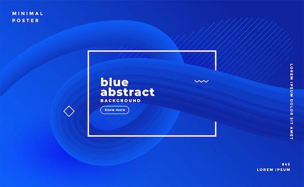 Modern blue abstract presentation template