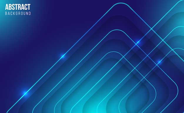 Modern blue abstract shiny background