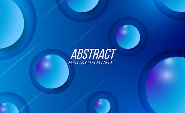 Современный синий абстрактный гладкий чистый и 3d пузыри градиентный фон